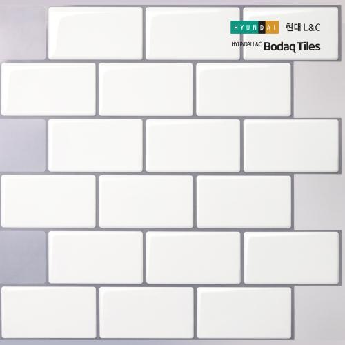 [현대L&C]손쉽게 붙이는 보닥타일 빅브릭 모노화이트