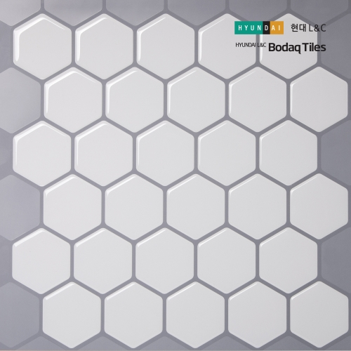 [현대L&C]손쉽게 붙이는 보닥타일 허니컴 모노화이트
