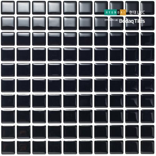 [현대L&C}손쉽게 붙이는 보닥타일 스퀘어 블랙