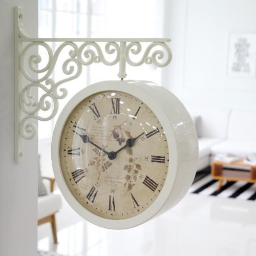 클래식 양면시계 (2color)