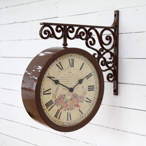 플라워 리스 양면시계 (2color)
