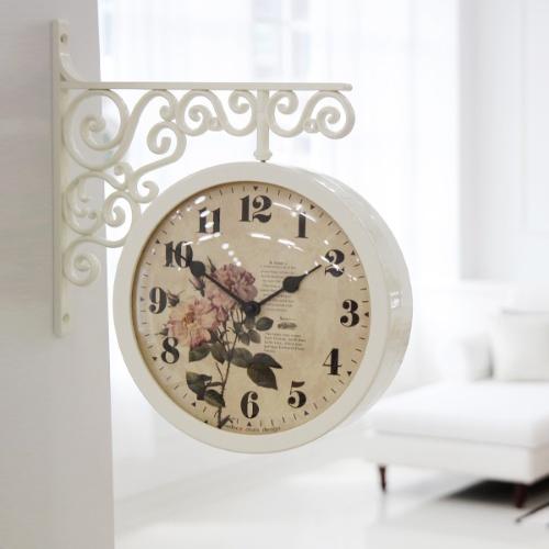로맨틱 로즈 양면시계 (2color)