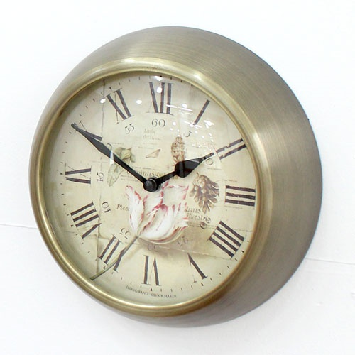 엔틱백합벽시계(2size)