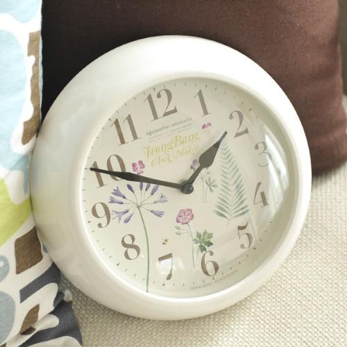 꽃향기 가득한 시계(화이트)