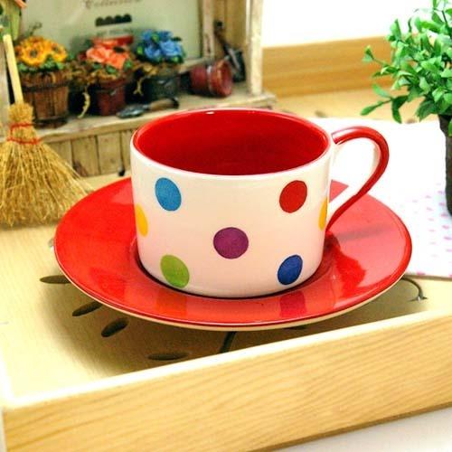 Polka mug set-red