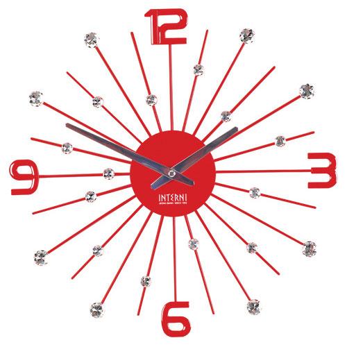 [무소음]크리스탈 눈꽃 시계 -레드