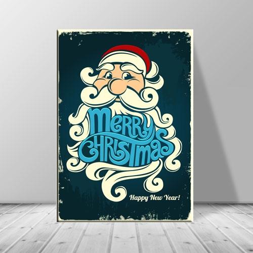크리스마스 캔버스아트 레터링 산타 수염 ch-117