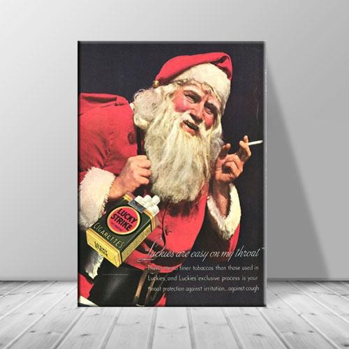크리스마스 캔버스아트 담배산타포스터1 ch-120