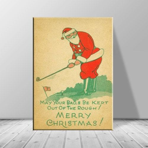 크리스마스 캔버스아트 액자 골프 산타 ch-126