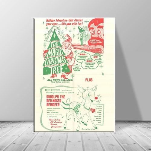 크리스마스 액자 그림 빈티지 트리포스터 ch-133