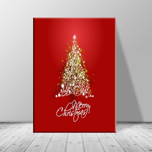 크리스마스 그림 빨간 일러스터 트리 ch-137