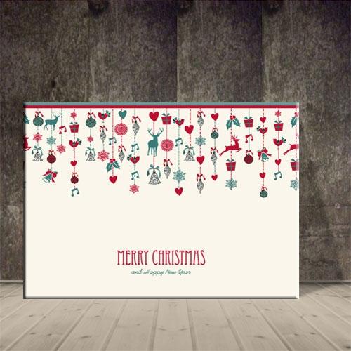 크리스마스 그림 산타모빌장식 포스터1 ch-140