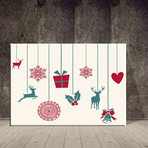크리스마스 그림 산타모빌장식 포스터2 ch-141