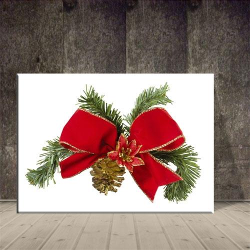 크리스마스 액자 빨간 리본장식 포스터 ch-144