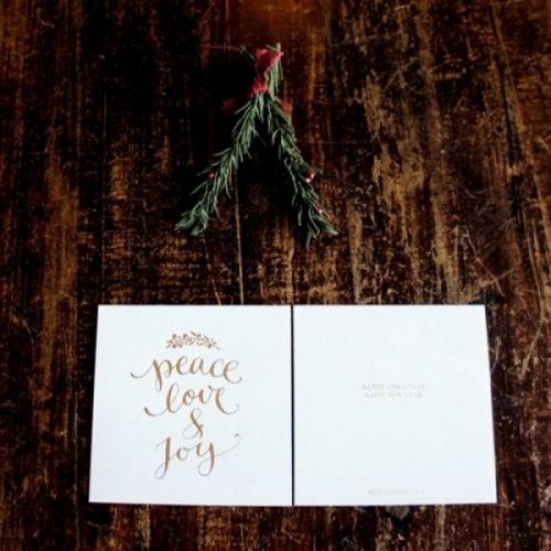[베델리엄] peace love n joy 크리스마스 카드