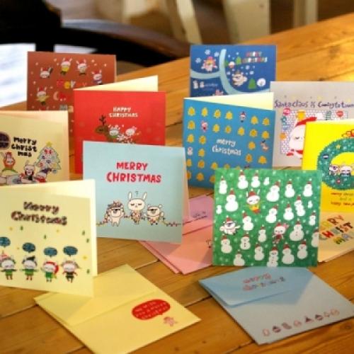 [MILLO] 10 크리스마스 카드 세트 ver5