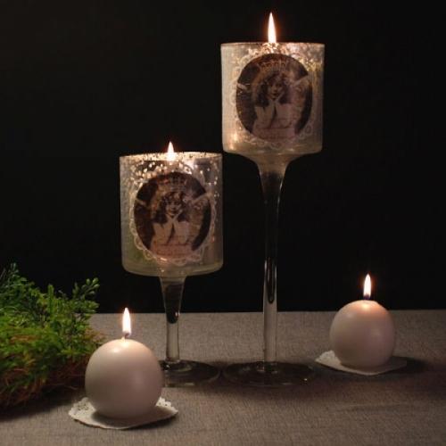 [2HOT] 천사 유리 촛대 대
