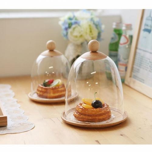 [ACACIA] 원형 조각 케익 보관함 소 (뚜껑 포함)