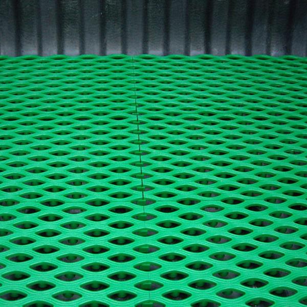 타원형플라스틱깔판1장-녹색(50x25)