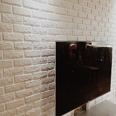 파벽돌-쉽게 시공가능한 입체벽돌 퍼니월(생크림색상)