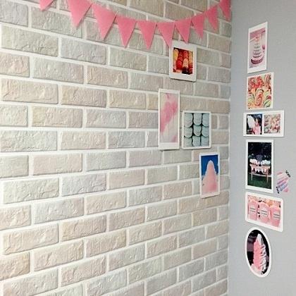 파벽돌-쉽게 시공가능한 입체벽돌 퍼니월(솜사탕색상)