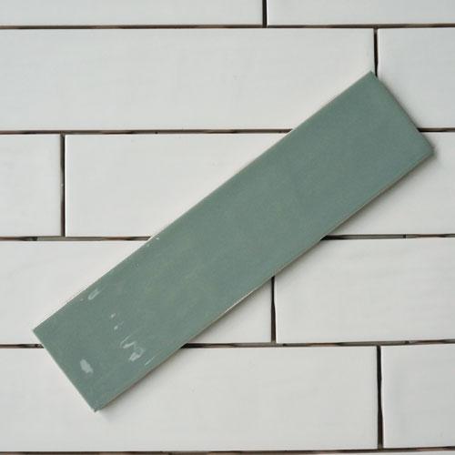 [어반테고]간격제가 필요없는 돌기유광 직사각타일 65*265 (민트) 1BOX 58장