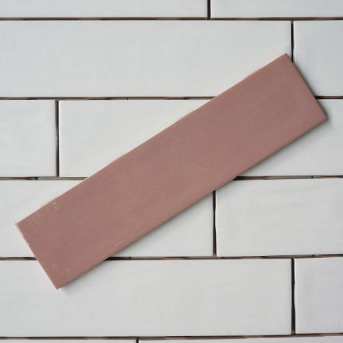 [어반테고]간격제가 필요없는 돌기유광 직사각타일 65*265 (핑크) 1BOX 58장