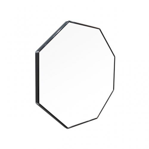 [어반테고] 메탈 정팔각 거울 / 블랙
