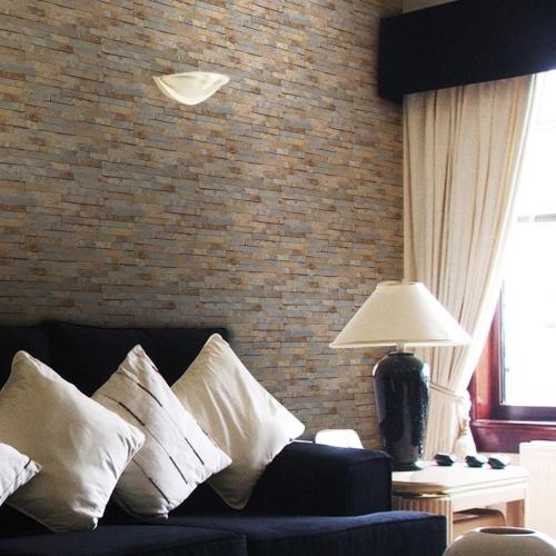 [초간편 셀프도배] 내맘대로 조각벽지 - 브라운 스톤