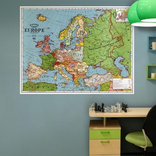[꼼지락닷컴]초간편 빈티지세계지도-V1104(유럽)