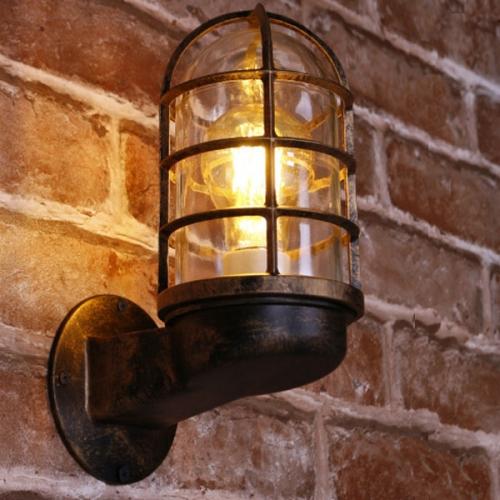 나이트 벽등 L타입 - 브론즈 컬러(LED겸용)