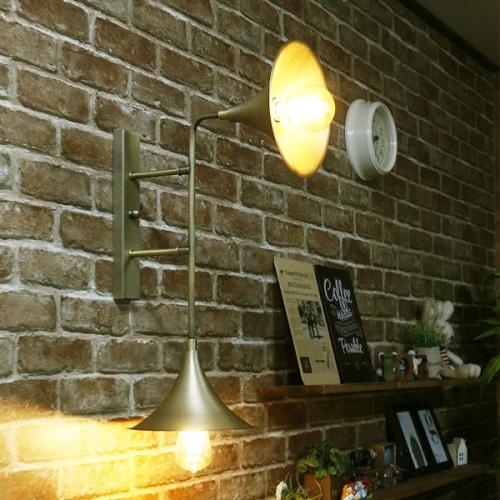 모닝 글로리 벽등(2등)(LED겸용)