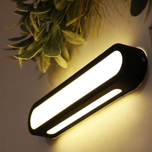 LED 요크 벽등(라운드)-블랙