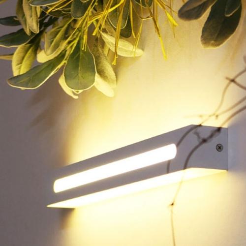 LED 요크 벽등(직사각) -화이트, 블랙