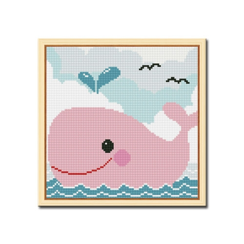 DIY 액자형 보석십자수_[D206] 고래의 모험