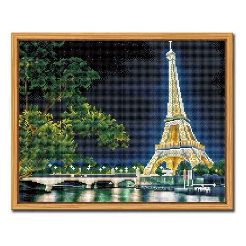DIY 액자형 보석십자수_[D637] 에펠탑의 야경