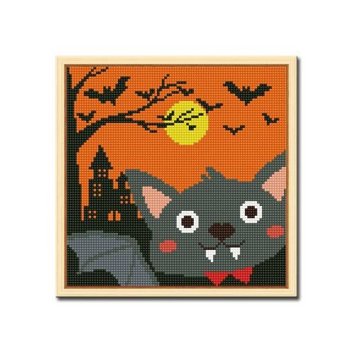 DIY 액자형 보석십자수_[D238] 할로윈 박쥐
