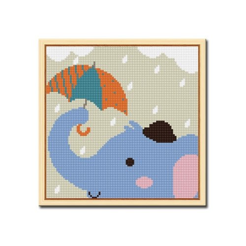 DIY 액자형 보석십자수_[D239] 우산속 코끼리