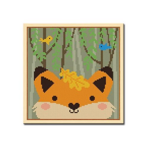 DIY 액자형 보석십자수_[D246] 숲속 여우