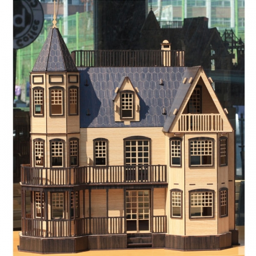 DIY나무모형 로렐타운 홈(블랙)_대