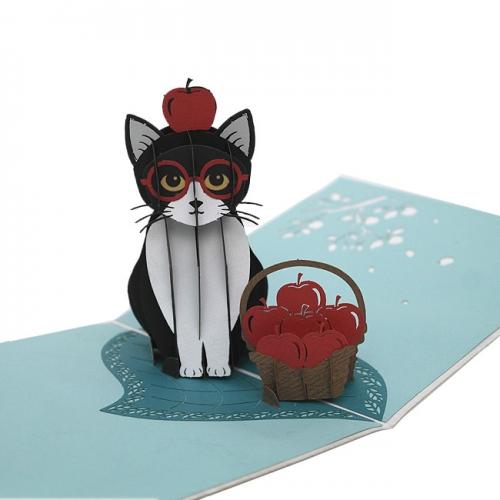 입체팝업카드 검은 고양이