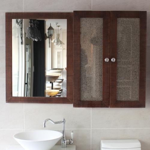원목간지 욕실거울(엔틱)