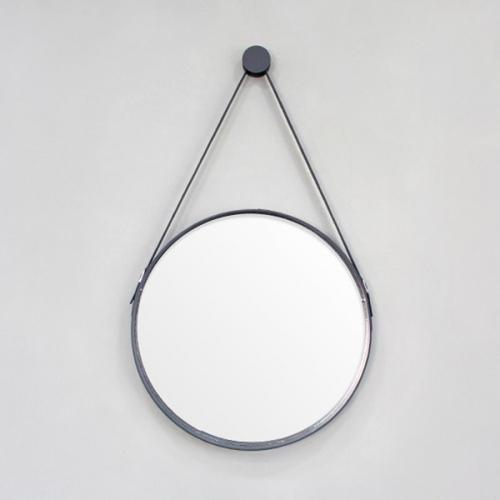 가죽 스트랩 원형 거울(지름500mm)후크고리포함