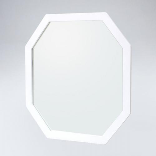 팔각 원목 거울(화이트)