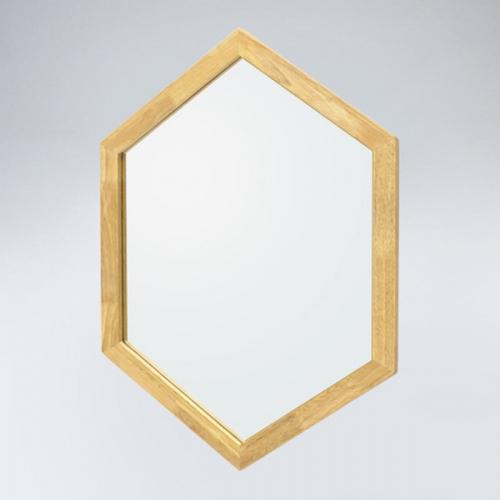 육각 원목 거울(메이플)