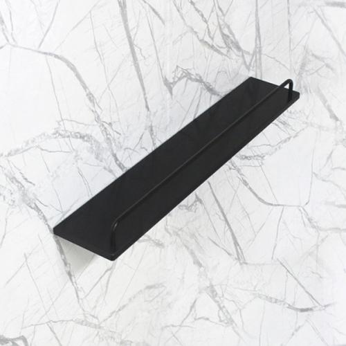 베키 블랙 인조대리석 욕실일자선반-BT