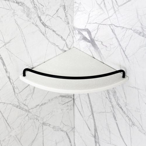 베키 화이트 인조대리석 욕실코너선반 A형-BT