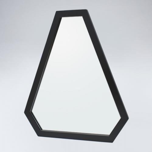 트라이앵글 원목 거울(블랙)