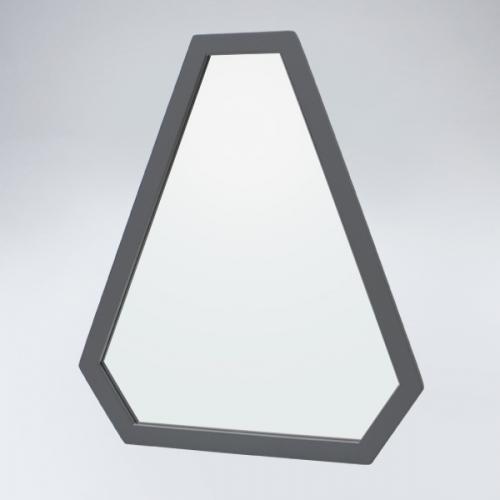 트라이앵글 원목 거울(그레이)
