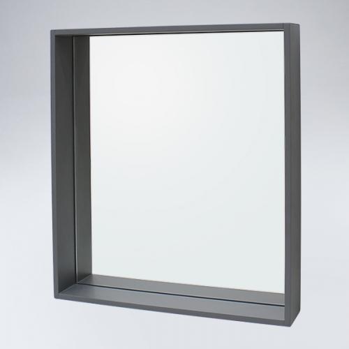 원목 선반형 거울(그레이)